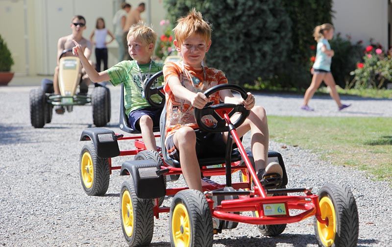 Pedal go-karts for children and adults