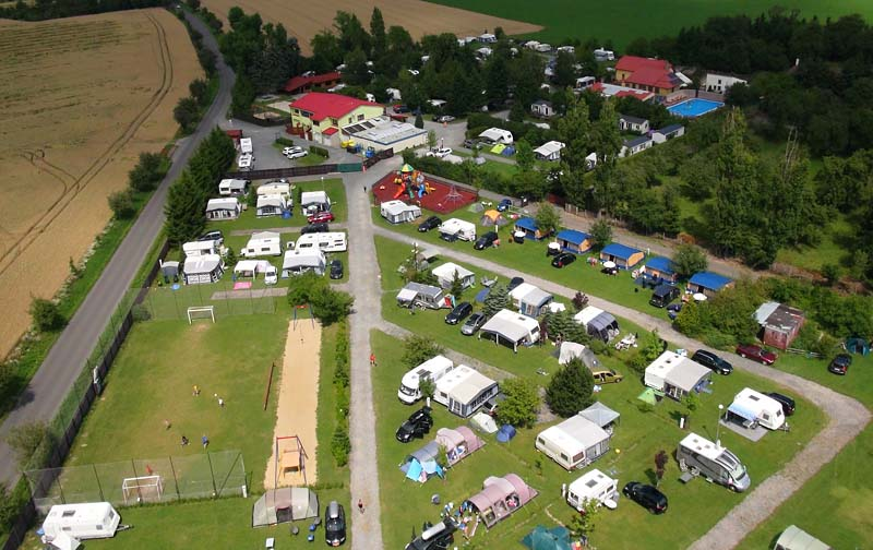 View of the camping site from a bird's eye view