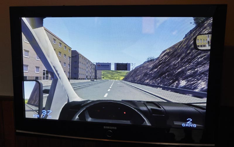 Residential car driving simulator