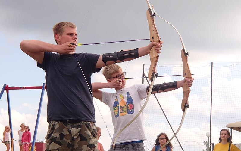 Archery in the campsite
