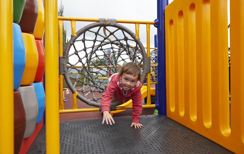 Playground - rope tunnel